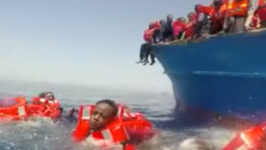 Child Migrants Saved From Meditarranean Sea
