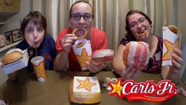 Trying Carl's Jr. For The First Time! Gay Family Mukbang- Eating Show