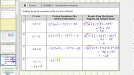 Evaluate Numerical Expressions Using Order of Operations and Distribution