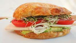 Sandwich - Turkey, Avocado And Sprouts Croissant Sandwich