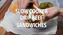 Slow Cooker Drip Beef Sandwiches