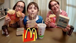 Mcdonald's Filet O Fish / Gay Family Mukbang - Eating Show