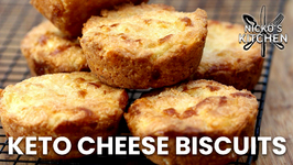 Keto Cheese Biscuits Recipe / Low Carb Buttery And Fluffy / Easy 3 Cheese