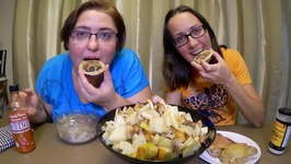 Potatoes Chicken And Ham / Gay Family Mukbang - Eating Show
