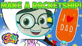 MAKE A ROCKET SHIP - DIY Fathers Day Special - The Nikki Show - Science for Kids - Cartoons for Kids