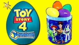 TOY STORY 4 GIANT SURPRISE EGG Easter Basket Game w/ TOY STORY 4 TOYS, MASHEM  CANDY