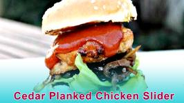 Cedar Planked Chicken Slider - English Grill and BBQ Recipe