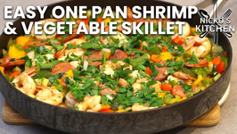 Easy One Pan Shrimp And Vegetable Skillet / Low Carb Dinner