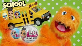 LOL Surprise Ride Bus  Go To School  Lil Sisters Baby Dolls Blind Bag