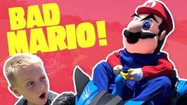 Super Mario Steals Kids Power Wheels Ride On Car Funny Mario Kart Race Irl