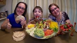 Beef Tacos And Corn Salsa /Gay Family Mukbang -Eating Show