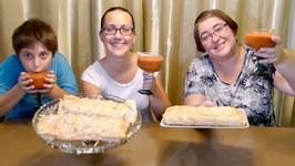 Tuna Bake And Apple Strudel -Gay Family Mukbang- Eating Show
