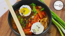 Kimchi Ramen Soup Recipe - No Gluten High Protein 35 gms