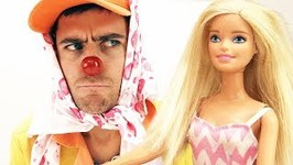 Funny Clown and Barbie Doll videos
