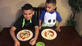 PIZZA CHALLENGE with Damian and Deion