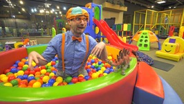 Blippi Learns at the Indoor Playground - Educational Videos for Toddlers