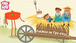 Farmer In The Dell Rhyme  Popular Nursery Rhyme For Kids  Peekaboo