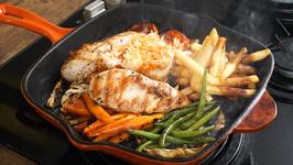 Grilled Chicken Sizzler/ How To Make Chicken Sizzler / Grilled Chicken Sizzler Recipe By Varun