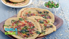 Instant Oats And Whole Wheat Uttapam