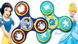 Play Doh Making Colorful Sparkle Disney Princess Fidget Spinner Dresses Frozen Elsa Toys for Kids