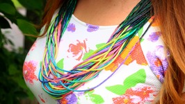 DIY Rainbow Cord Necklace