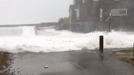 Storm Surge Floods Into Massachusetts Coastal Town During Nor'easter