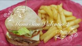 Menu para San Valentin 2 / Hamburguesas Caseras con forma de Corazon / Recetas de San Valentin