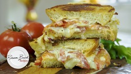 Gooey Creamy Grilled Cheese Sandwich With Tomato