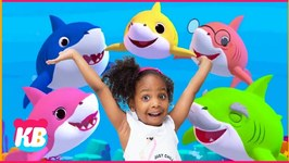 Playing Tag With Mommy Shark  Kamdenboy & Kyraboo Pretend Play