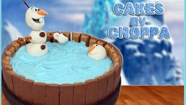 OLAF Kit-Kat Cake  Disney's FROZEN (How To)