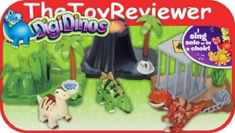 DigiDinos Habitat Playset With Quake, Outback, And Mimick DigiFriends Unboxing Review
