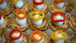 Marijo's Appetizer Mini Shells Quail Eggs