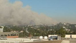 Smoke Blankets Los Angeles as Skirball Wildfire Burns