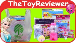 September 2018 Girls Dollar Tree Haul 1 Toys Shopkins Frozen Unboxing Toy Review by TheToyReviewer