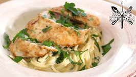 Crispy Chicken And Creamy Pasta - Budget Recipe