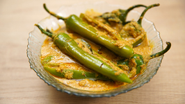 Mirchi Ka Salan Recipe - Hyderabadi Mirchi Ka Salan For Biryani - Spicy Green Chilli Curry - Tarika