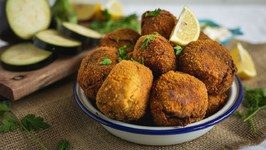Finger Licking Crispy Eggplant Balls