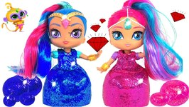 Shimmer And Shine Play Doh Sparkle Dresses With Surprise Toys Modeling Clay For Kids