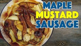 Baked Maple, Mustard, Sausage And Apple