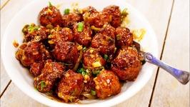 Cabbage Manchurian - Restaurant Style Veg Manchuria - Indo Chinese