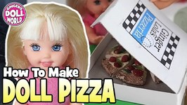 How to Make Miniature Doll Pizza Doll Crafts