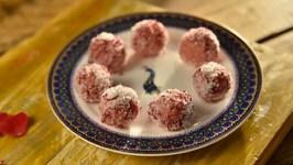 Gulabi Coconut Laddoo - Indian Sweet - Raksha Bandhan Special