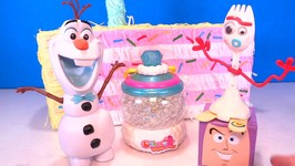Goldie Celebrates Orbeez 10th Birthday - New Color Reveal w/ Olaf  Forky