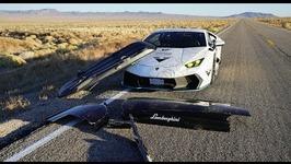 HIGH SPEED DISASTER Lamborghini's Ski Box FLEW OFF