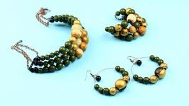 DIY Wooden Jewelry Set