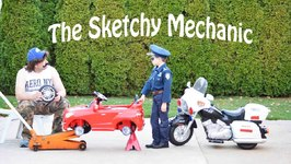 Kidz Motorz Police Motorcycle Kid Cops Little Heroes The Sketchy Mechanic Video Parody