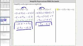Simplify Variable Expressions With Decimals Using Distribution