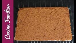Bizcocho de chocolate para tartas, esponjoso y muy jugoso  Recetas de Javier Romero