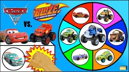 DISNEY CARS 3 Movie vs BLAZE TOYS Spinning Wheel Game - Surprise Toys Kids Games Video
