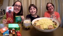 Moroccan Food - World Food Box / Gay Family Mukbang - Eating Show